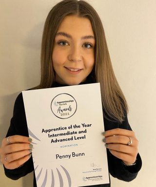 Today is the start of National Apprenticeship Week! Such an important thing to be recognised & such brilliant way for careers to start.  We nominated our apprentice Penny Bunn for Apprentice of the year. She came to us at the end of lockdown 1 when we were all learning to work in a totally different way, took it all in her stride and made our lives easier with her positive attitude & forward thinking. She along with all the other fantastic apprentices out there deserve recognition for the vital role they play within our teams. ❤️ #naw2021