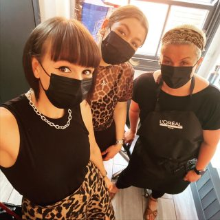Totes #awks when you all turn up in variations of the same outfit 🤣 🐆  #outfit #leopardprint #team  @_hair.by.penny_ @kayley_glen