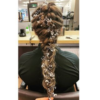 Penny our Apprentice has been practicing her hair ups 😍✨  Styled by @_hair.by.penny_   #hairdressing #apprentice #updostyles #weddingseason #weddinghair #longhair #hairextensions #hairups #hairupstyle