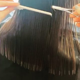 Our apprentice @_hair.by.penny_ has been practicing her one length haircuts on the willing victims in her household today 😬   Online tutorial by @benbrownhair  @joewell_scissors @ysparkuk   #onelengthcut #precisioncutting #sharphaircut #onlineeducation #alwayslearning #bobhaircut #longhair #hairstylist #apprentice #hairdresser #norwichhair #norwichhairdressers #coltishall #fghsaloncoltishall