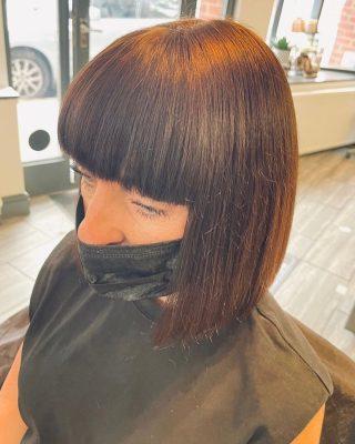 ✂️Precision cutting✂️  Cut&Blowdry by @kayley_glen   #hairdresser #hairdressing #bobhairstyles #fringehair #precisioncutting #norwichsalon #coltishallhighstreet #smallbuisness #indipendantbusiness